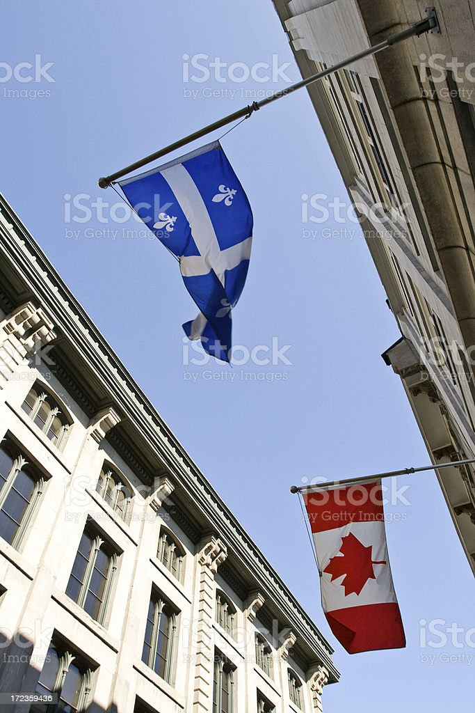 quebec and canada royalty-free stock photo