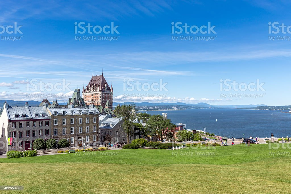Quebec City and Chateau Frontenac, Canada stock photo