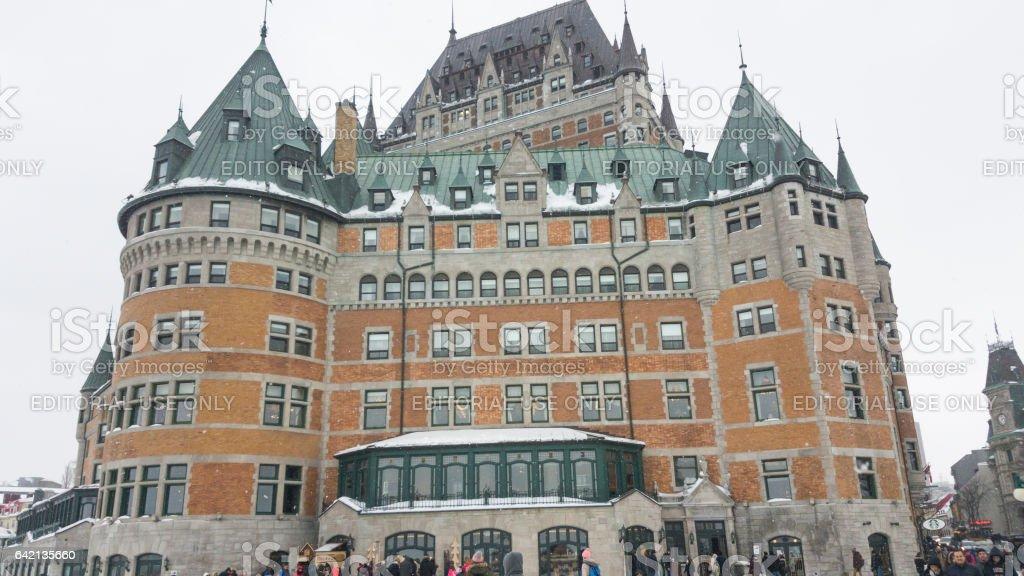 Quebec City, Canada Fairmont Le Chateau Frontenac facade. stock photo