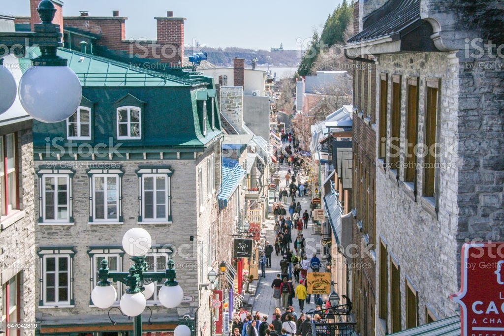 Quebec city, Canada. stock photo