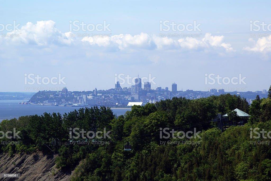 La ville de Québec du mont Morency photo libre de droits