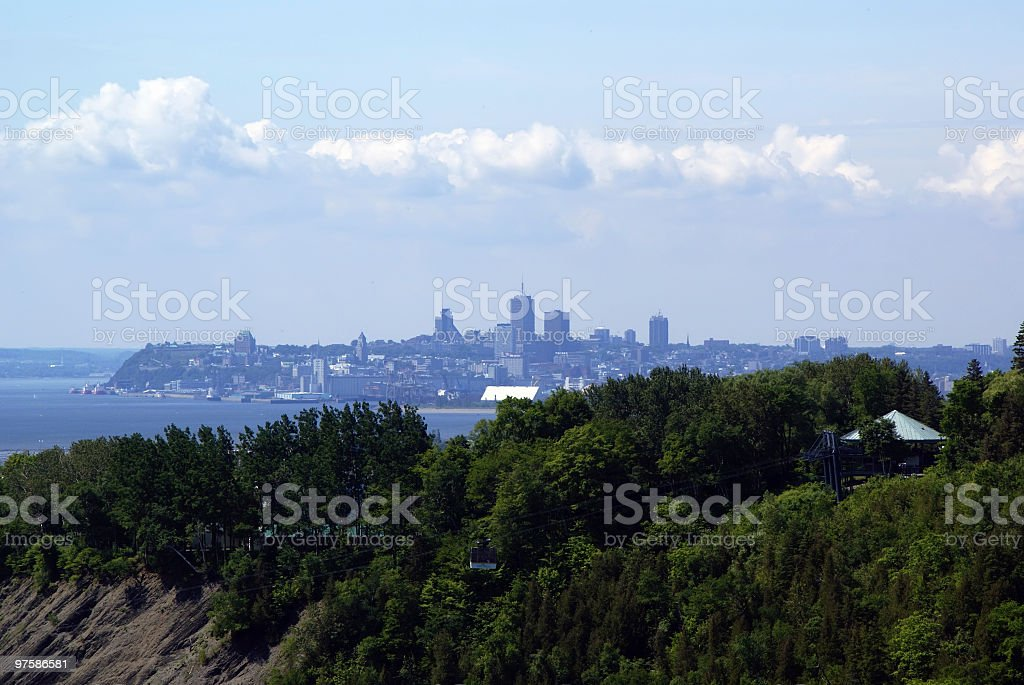 Quebec City from Mount Morency stock photo