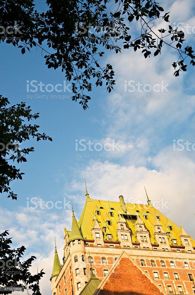 Quebec City landmarks - hotel Chateau Frontenac royalty-free stock photo