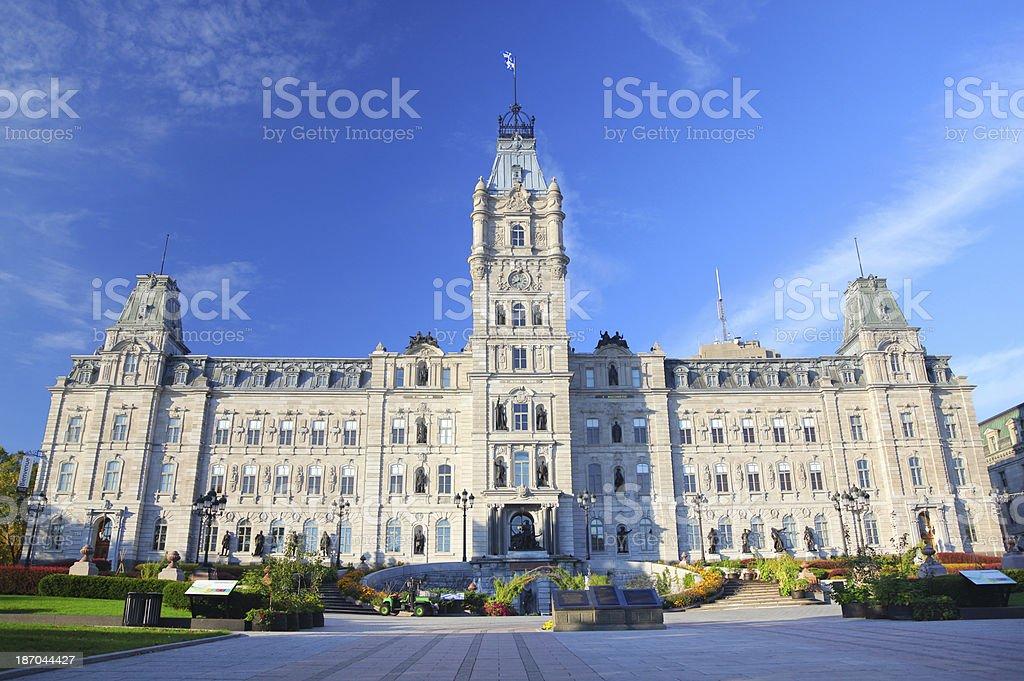 Quebec City Parliament Building Facade royalty-free stock photo