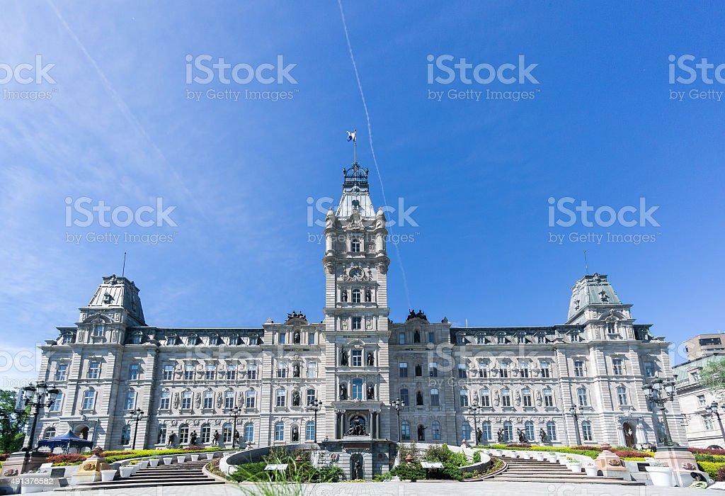 La ciudad de Québec edificio del Parlamento en verano - foto de stock