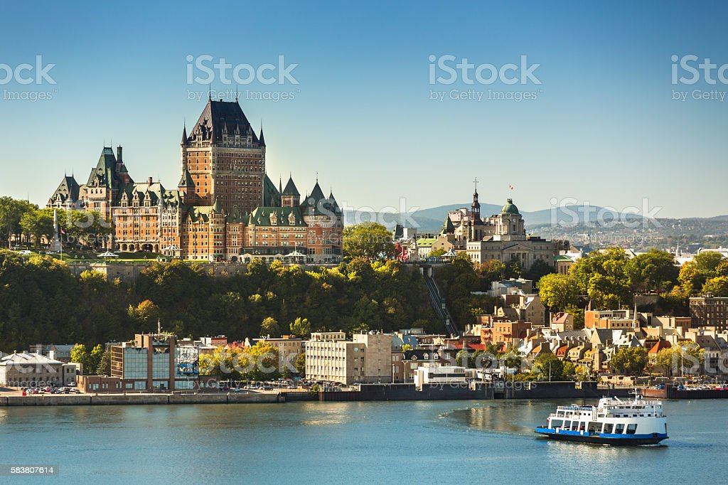 Quebec City skyline Old Quebec City view Canada Architecture Stock Photo