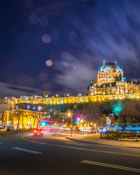 Quebec City tour stock photo