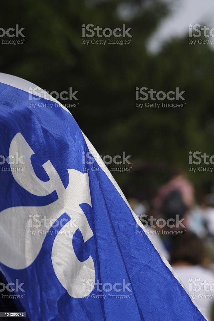 Drapeau du Québec durant la fête nationale - Photo