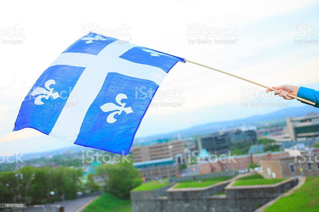 Quebec Flag royalty-free stock photo