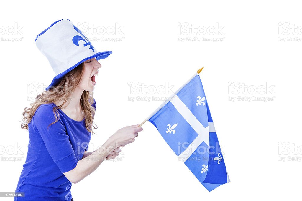 Quebec girl royalty-free stock photo