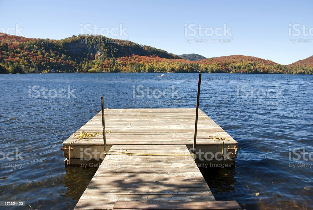 Quebec in autumn royalty-free stock photo