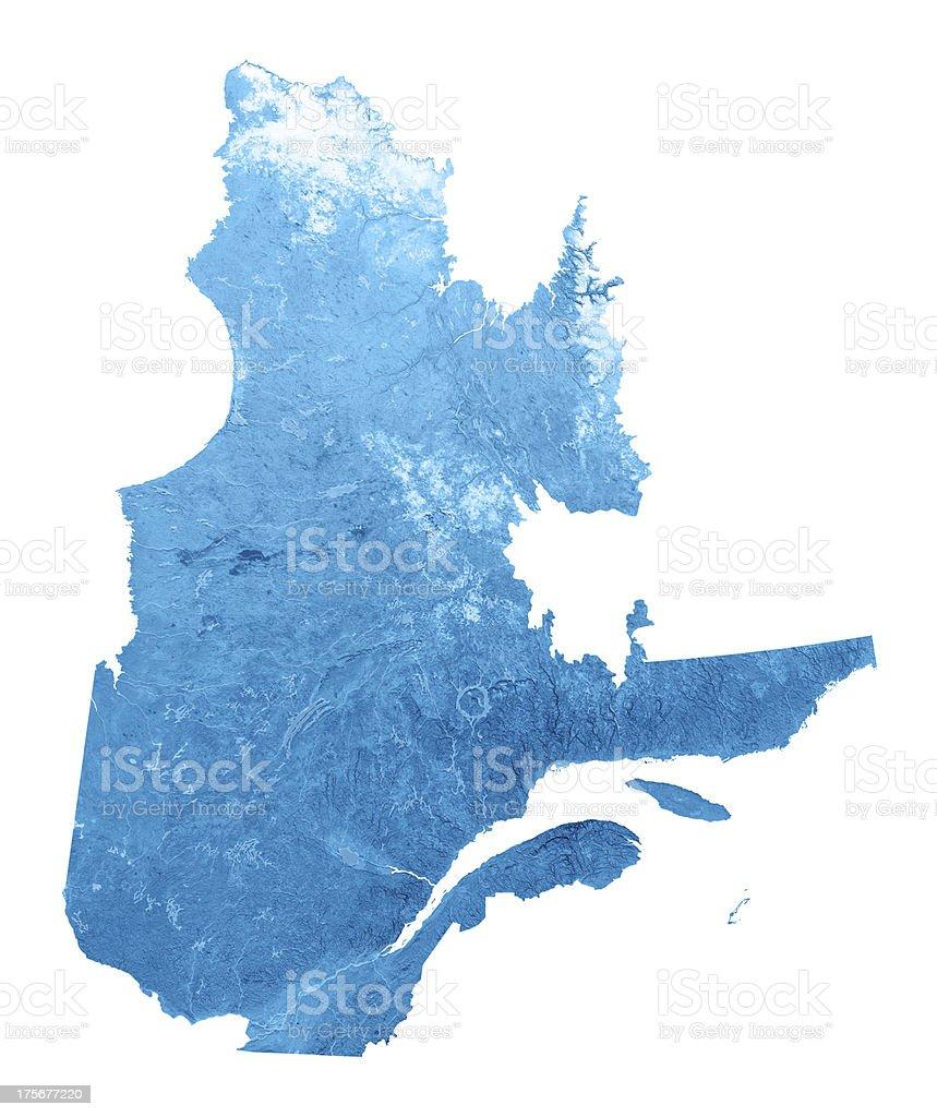 Quebec Topographic Map Isolated stock photo