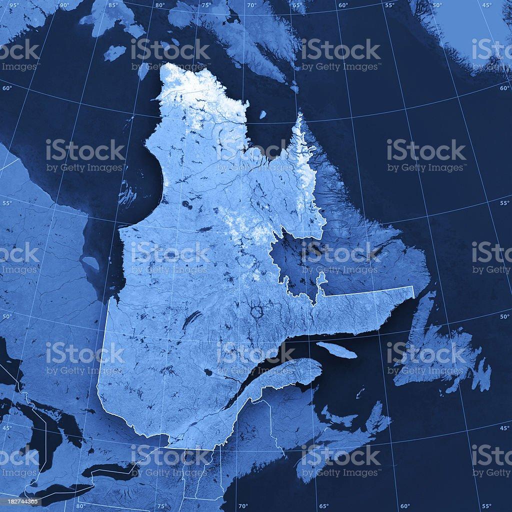 Quebec Topographic Map stock photo