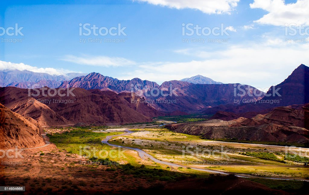 Quebrada de Cafayate Canyon - Argentina stock photo