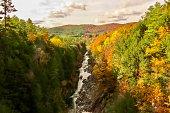 Fall foliage around the gorge