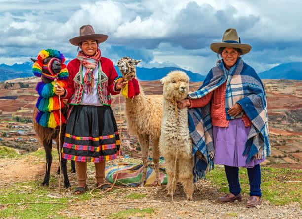 Quechua People, Peru stock photo
