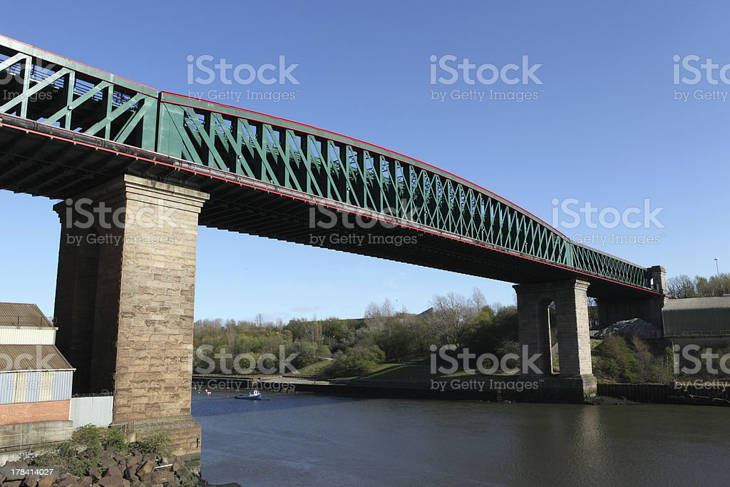 Queen Alexandra Bridge, Sunderland stock photo