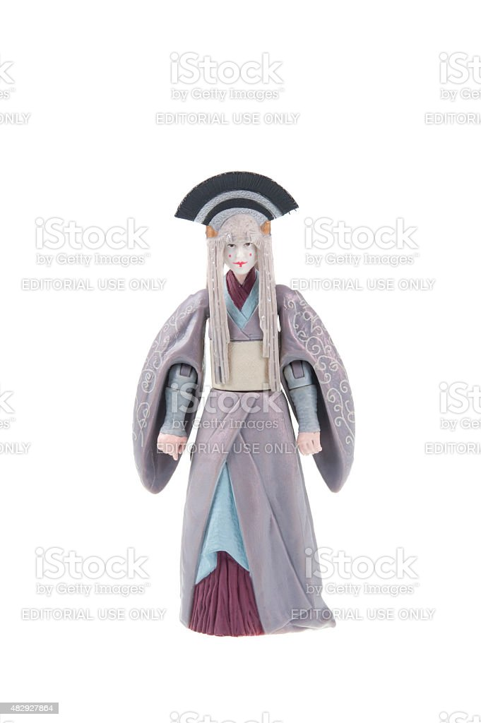 Queen Amidala Action Figure stock photo