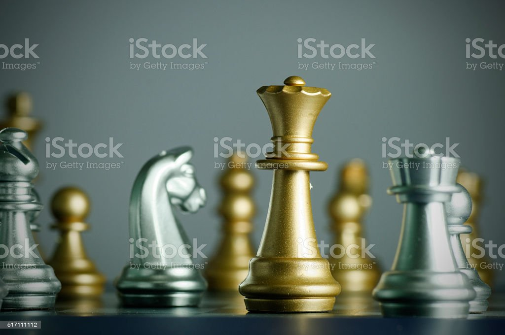 Queen attacking stock photo