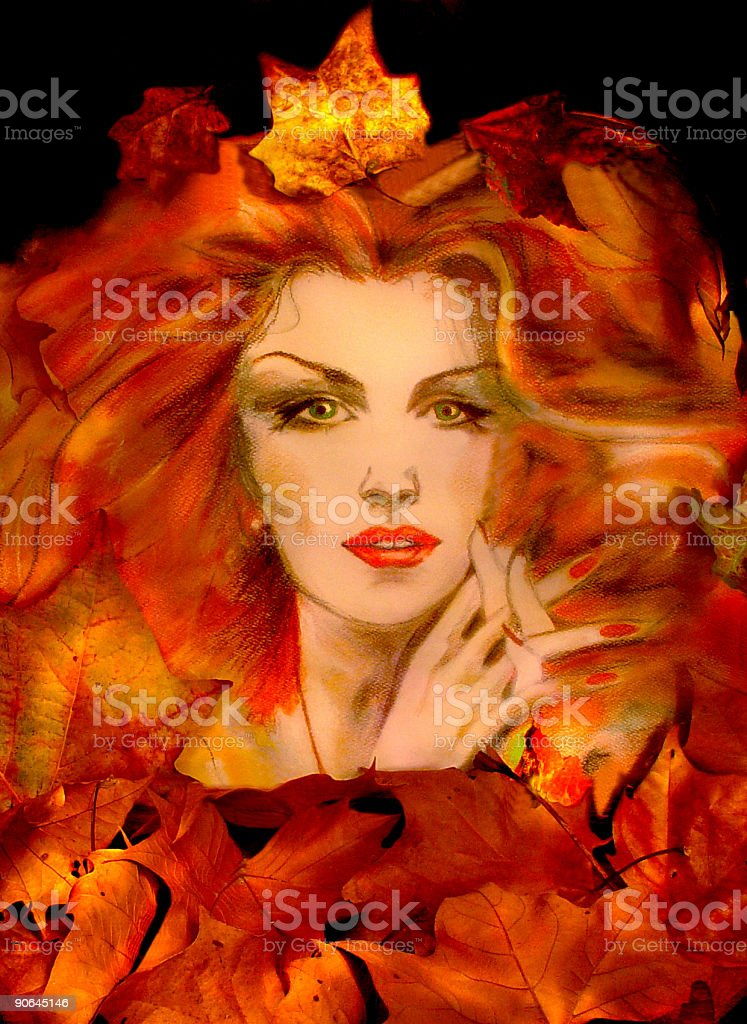 Queen autumn royalty-free stock photo