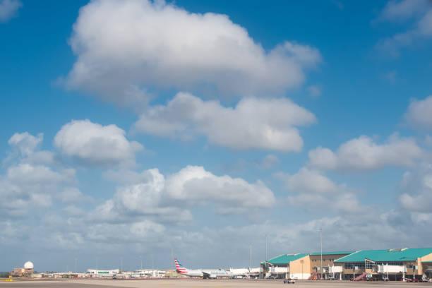 Königin Beatrix International Airport of Aruba. Niederländische Inseln – Foto