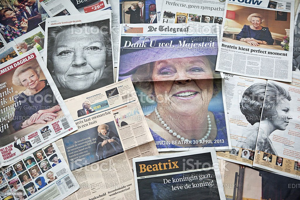 Queen Beatrix of the Netherlands # 1 XXXL stock photo