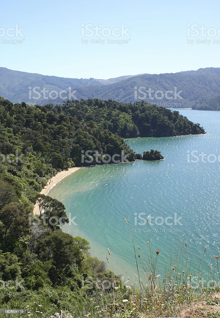 Queen Charlotte Beach royalty-free stock photo