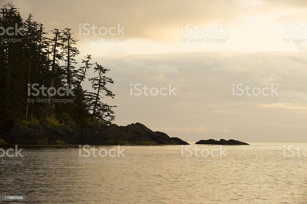 Queen Charlotte Islands stock photo