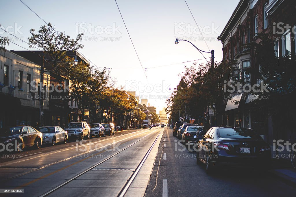 Queen East St. stock photo