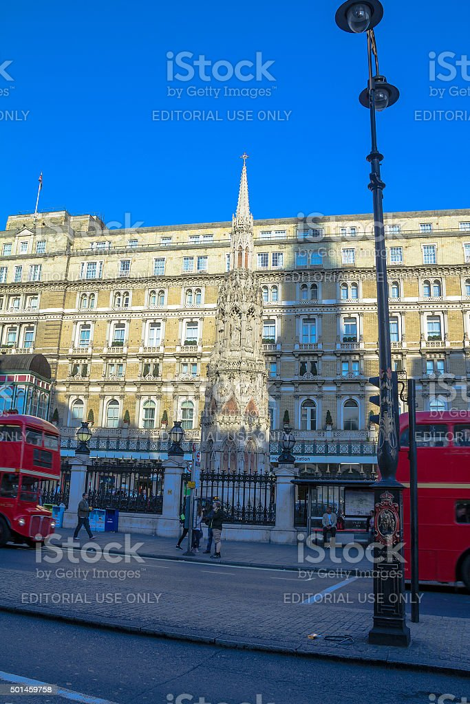 Queen Eleanor's Monument:  near Charing Cross stock photo