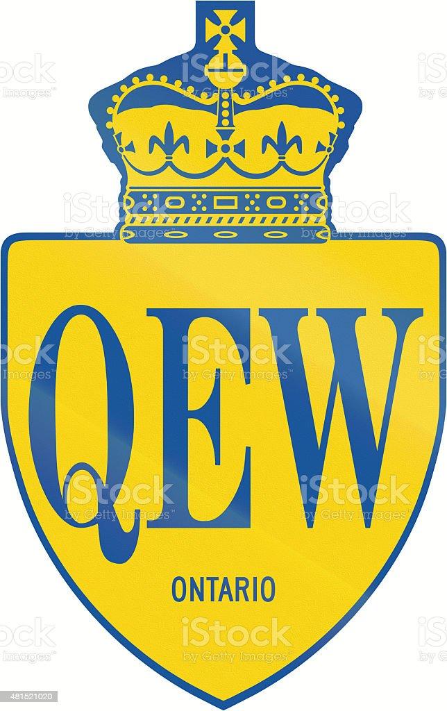 Queen Elisabeth Way In Ontario stock photo