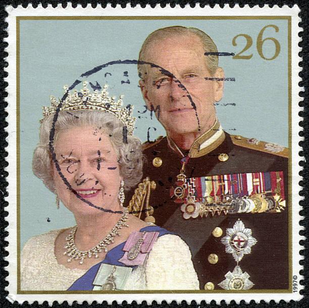 Queen Elizabeth II and Duke of Edinburgh Prince Philip stock photo