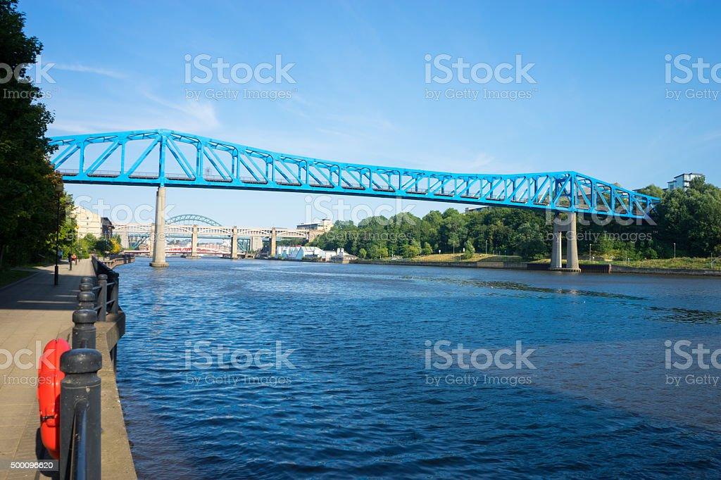Queen Elizabeth II Bridge stock photo