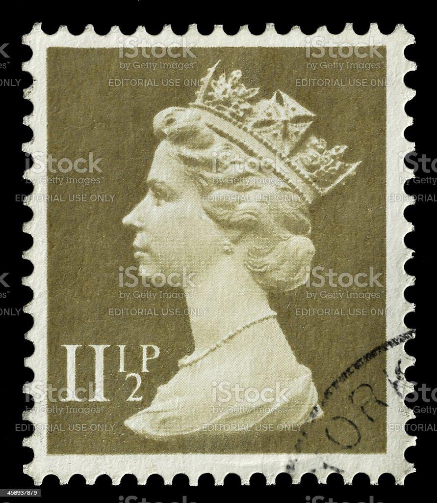 Queen Elizabeth II royalty-free stock photo