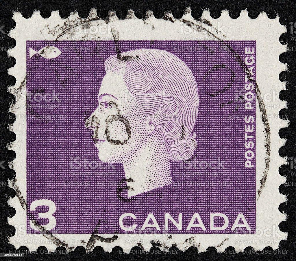 Queen Elizabeth II postage stamp royalty-free stock photo
