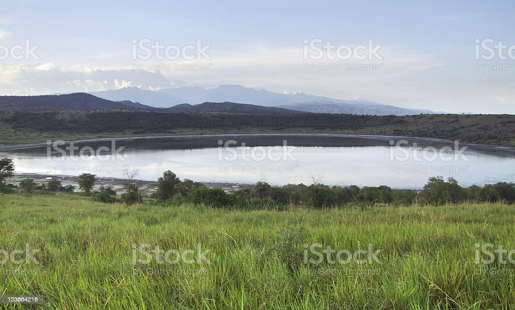 Queen Elizabeth National Park in Africa royalty-free stock photo