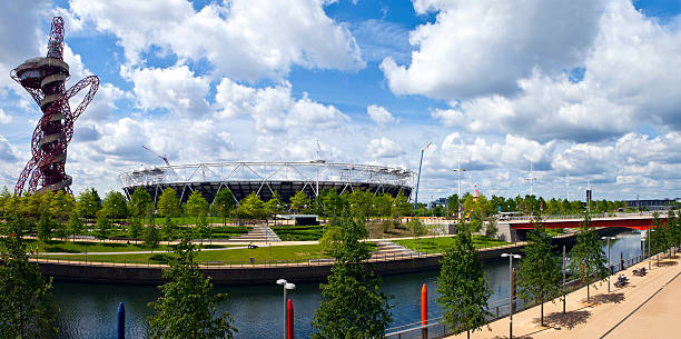 Queen Elizabeth Olympic Park in London stock photo