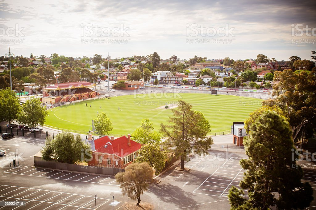 Queen Elizabeth Oval stock photo