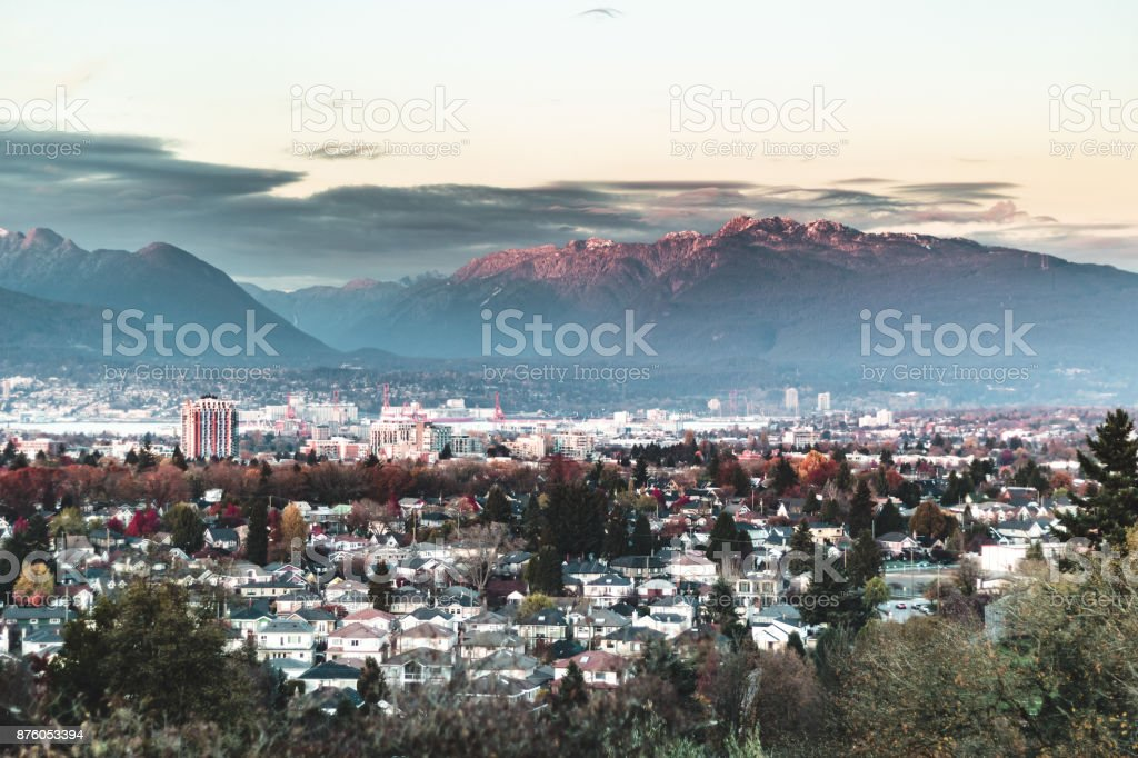 Queen Elizabeth Park and Surroundings in Vancouver, BC, Canada stock photo