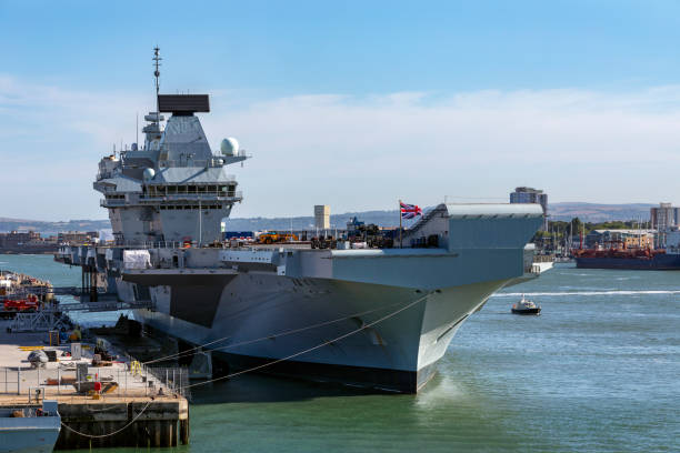 hms queen elizabeth - royal navy - united kingdom - uk military stock photos and pictures