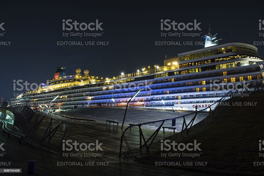 Queen Elizabeth - YOKOHAMA, JAPAN - MARCH 17, 2014 stock photo
