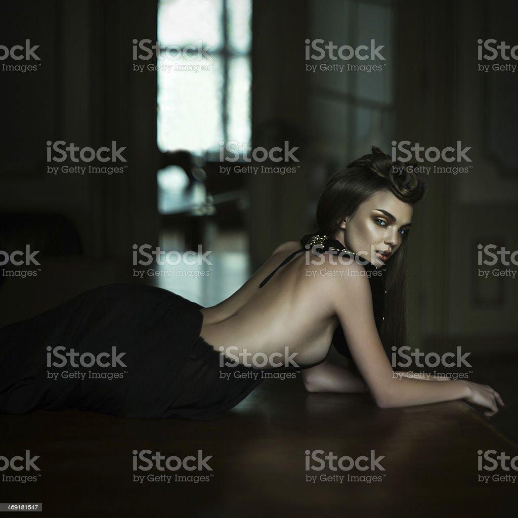 Queen. Fashion women stock photo