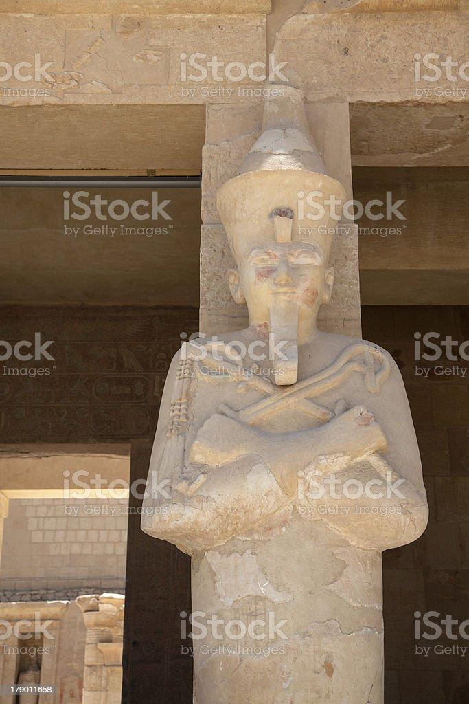Queen Hatshepsut as Osiris stock photo