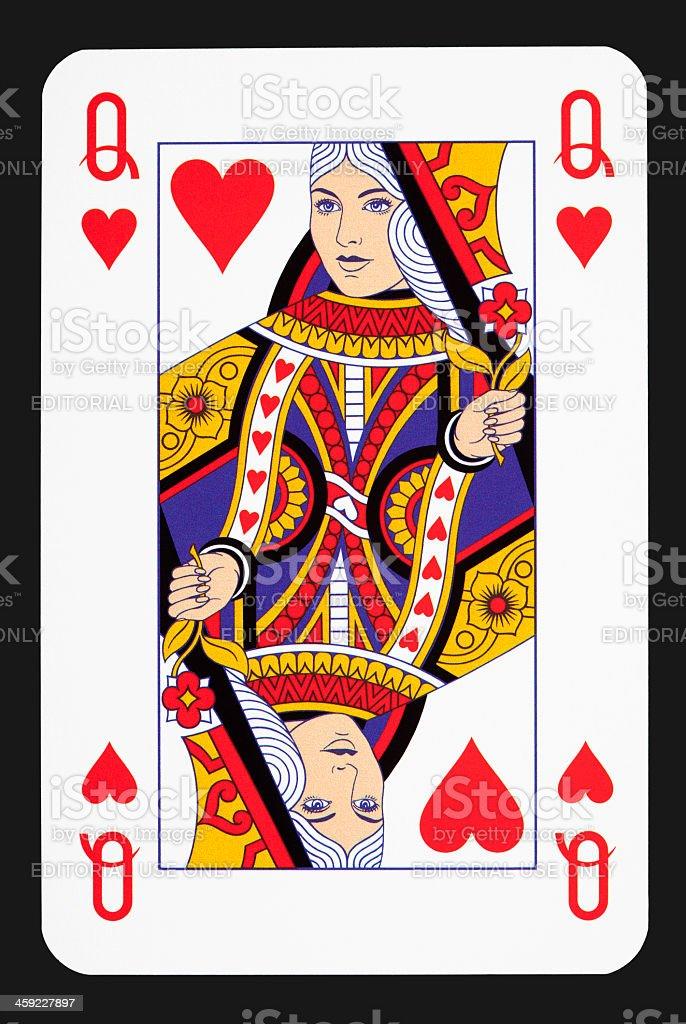 Queen heart stock photo