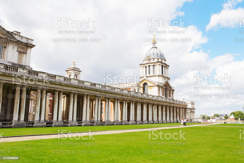 Queen Mary & King William Building at Old Royal Naval College Greenwich. National Maritime Museum stock photo