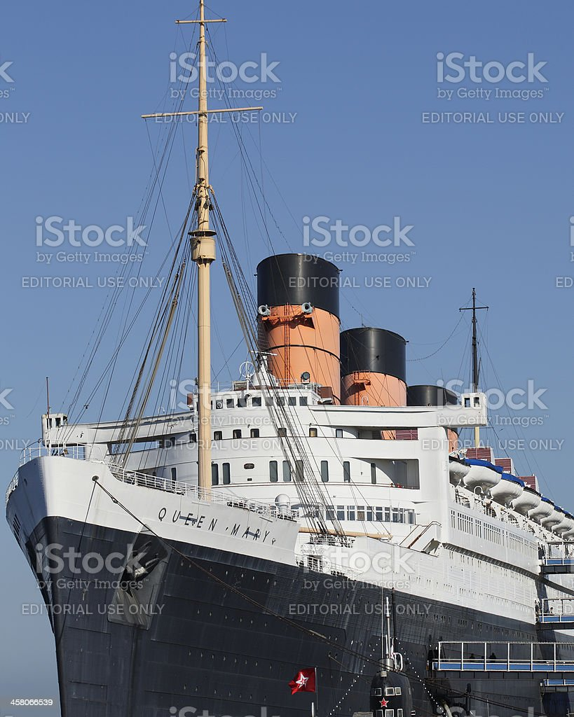 Queen Mary Ocean Liner royalty-free stock photo