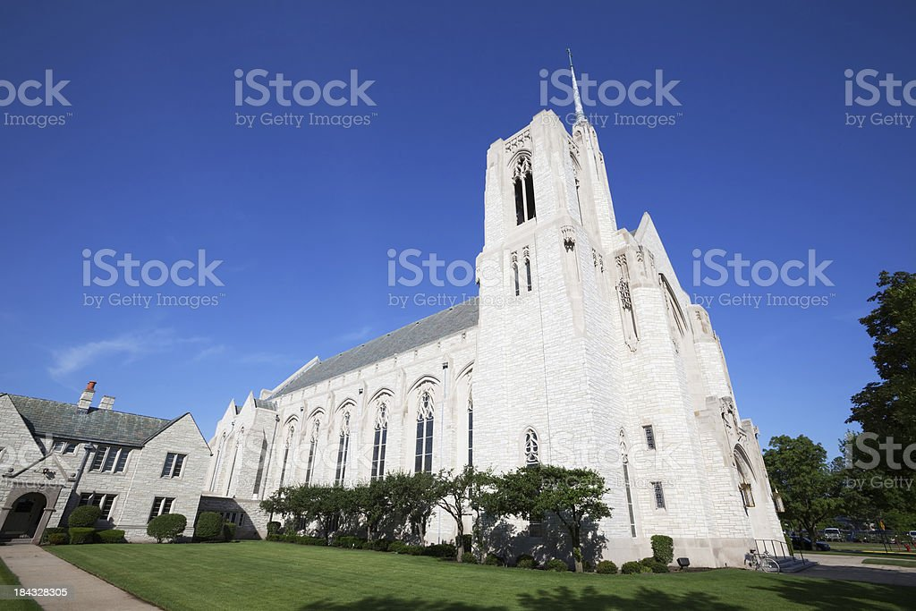 Queen of All Saints Church in Forest Glen, Chicago royalty-free stock photo