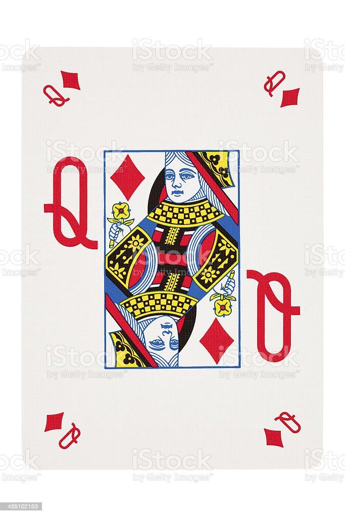 Queen Of Diamonds stock photo