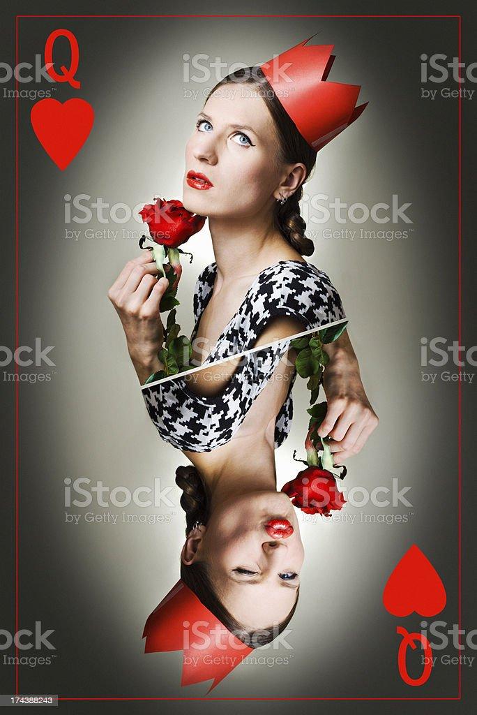 queen of hearts stock photo