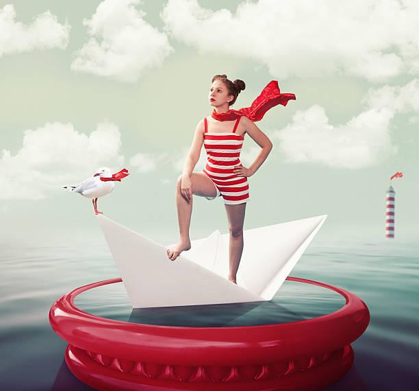 queen of the sea - seemann thema stock-fotos und bilder